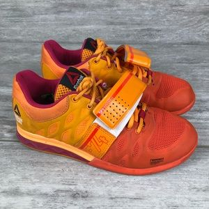 Reebox crossfit bright orange tennis shoes F-74